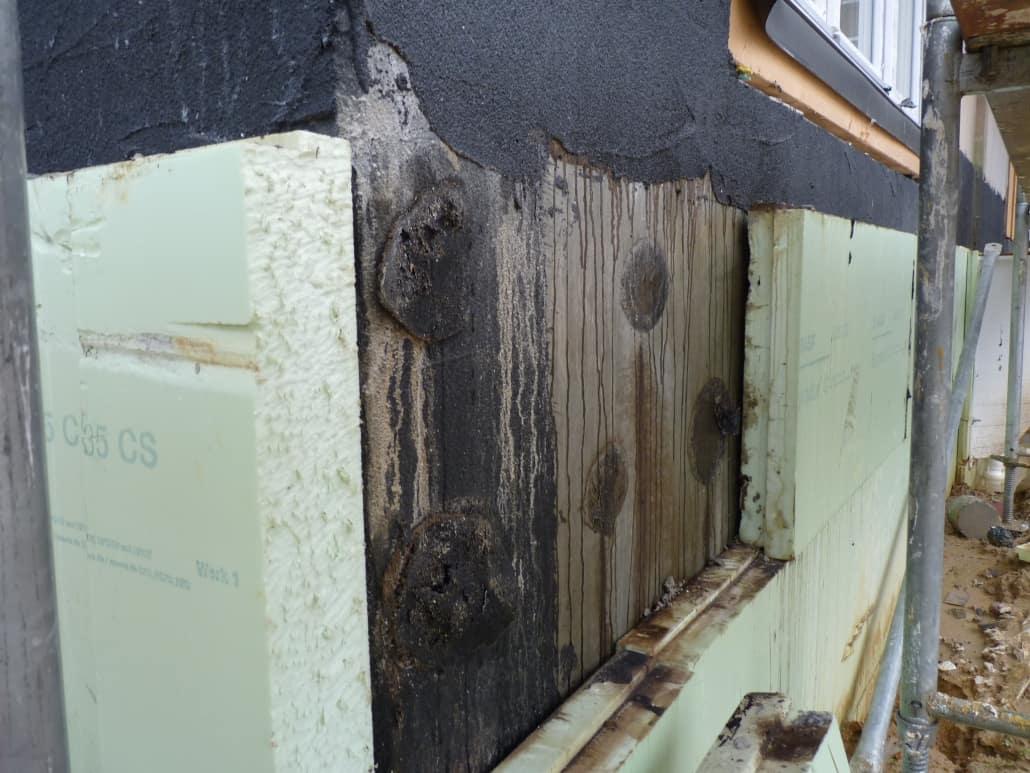 Schäden an der Bauwerksabdichtung / Kellerabdichtung