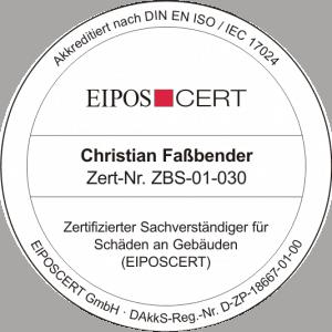 Zertifizierter Sachverständiger für Schäden an Gebäuden (EIPOSCERT) - Bausachverständiger Köln Baugutachter NRW