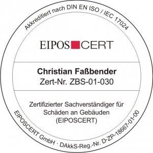 Faßbender_Zertifizierter Sachverständiger für Schäden an Gebäuden (EIPOSCERT) - Ihr Bausachverständiger und Baugutachter rund um Köln, Bonn und Düsseldorf